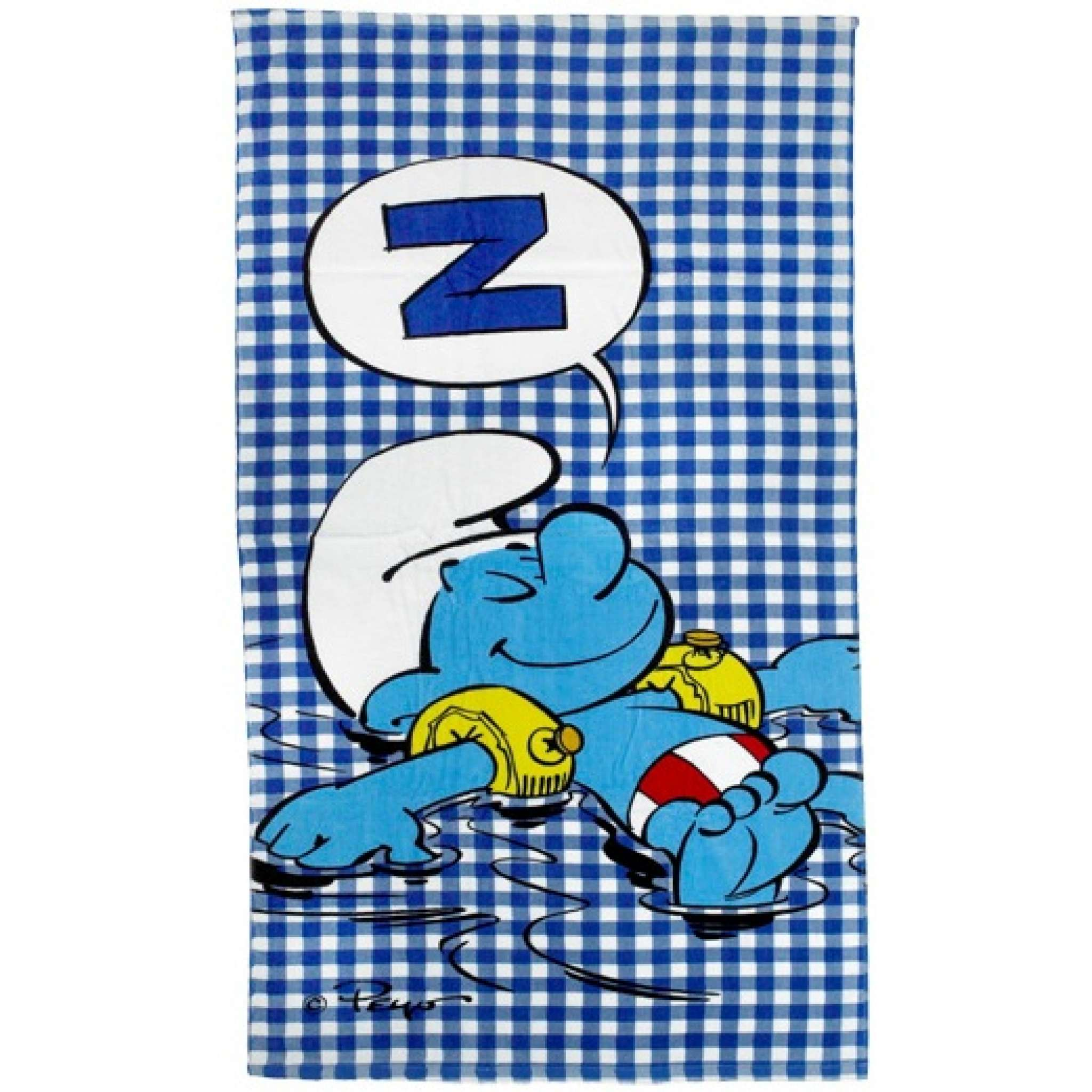 Blå Smurf Badhandduk