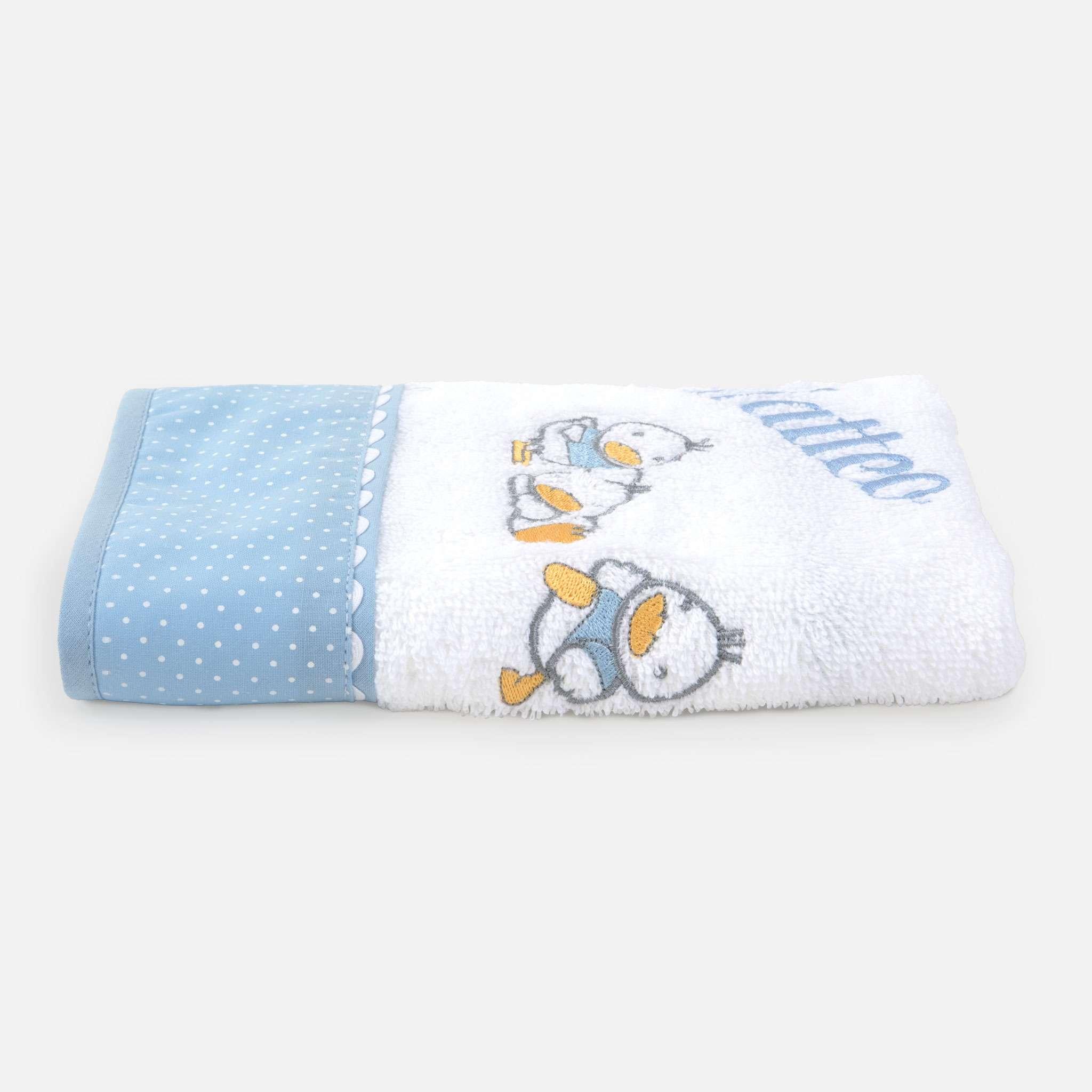 Ducks Blue Handduk 30x50 cm