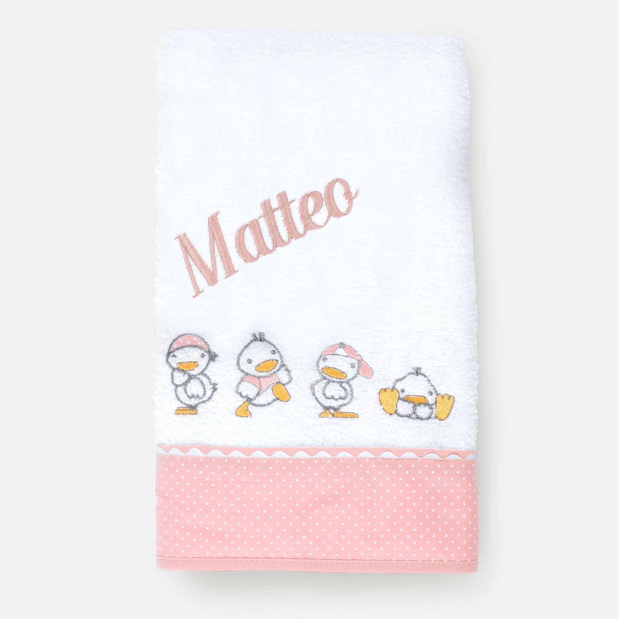 Ducks Pink Handduk 50x100 cm