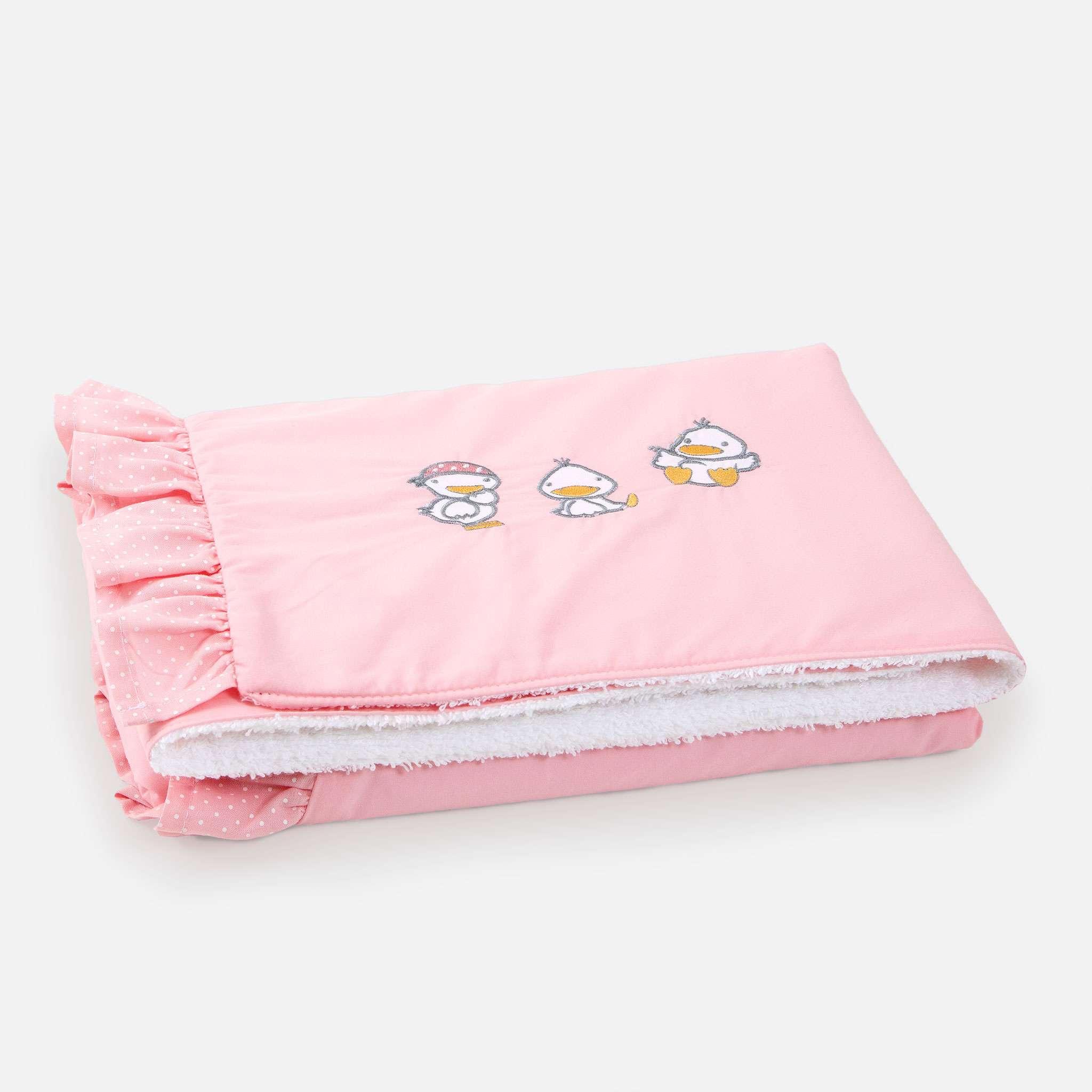 Ducks Pink Babyfilt