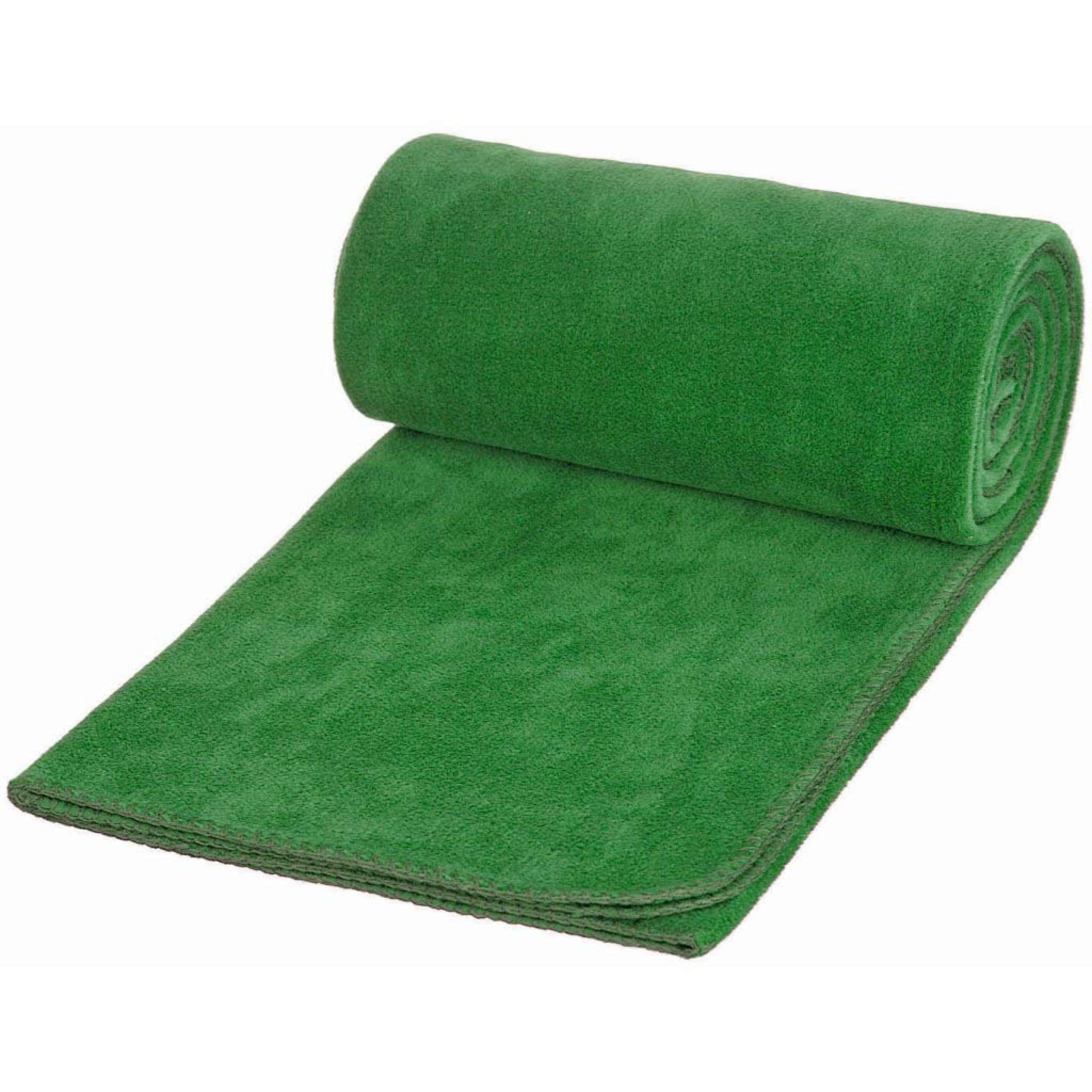Fleecepledd Solid (150x180 cm)-Grønn (#AACA89)