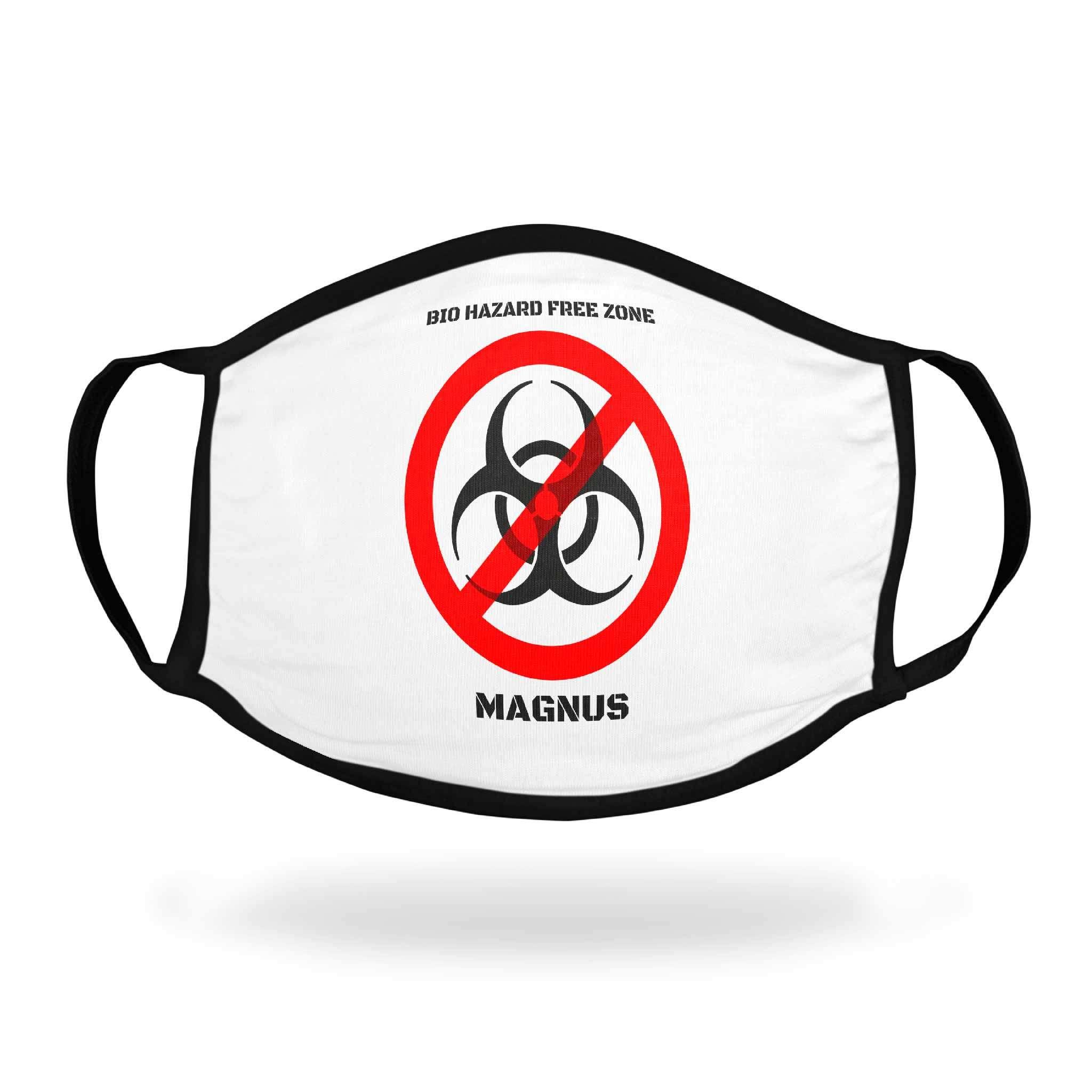 Tygmunskydd med motiv Antivirus