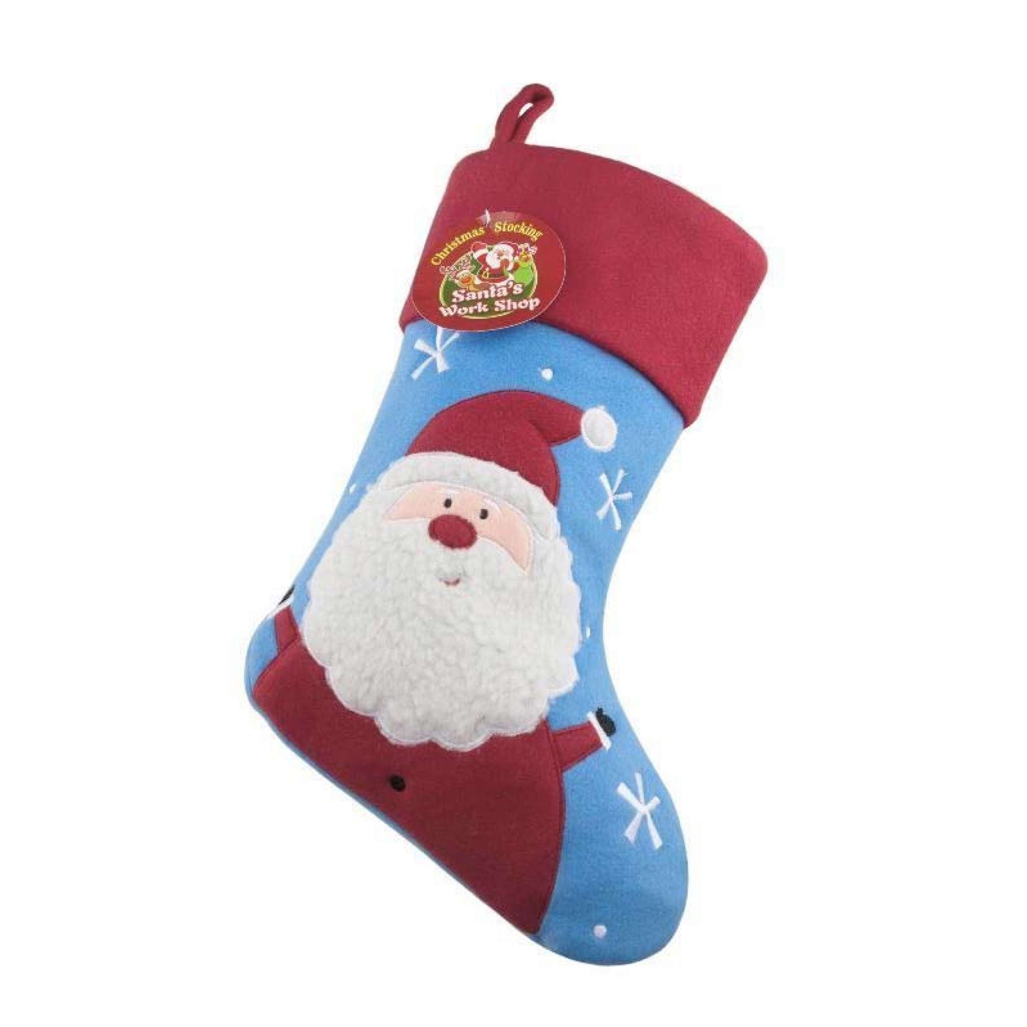 Julstrumpa Premium, Tomte blå