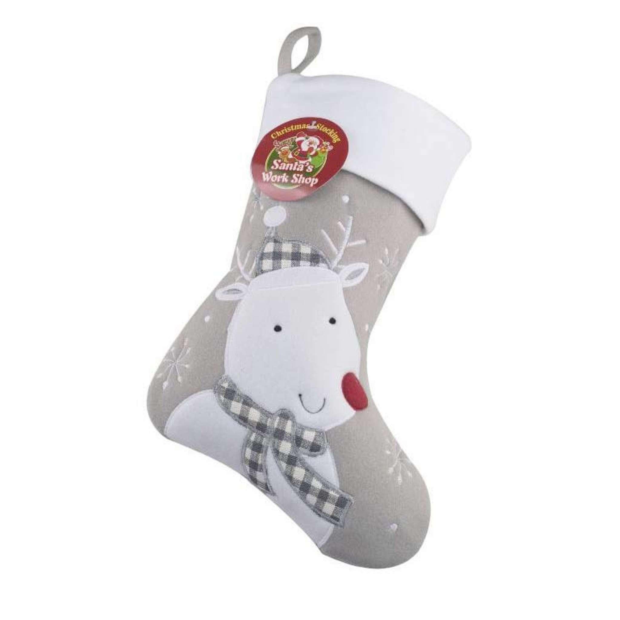 Julstrumpa Premium, Ren grå