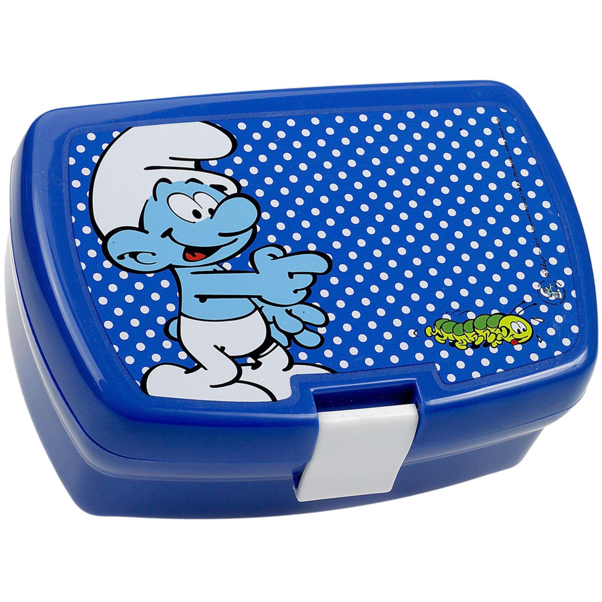 Lunchbox Smurf Blå