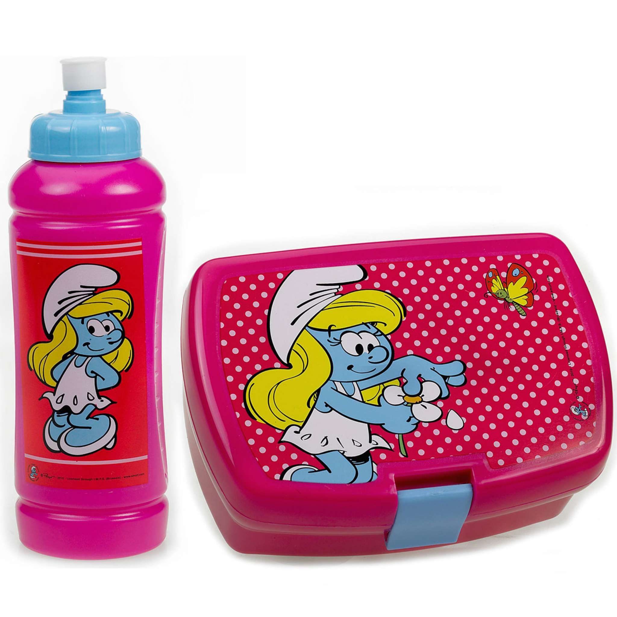 Lunchset Smurf Rosa