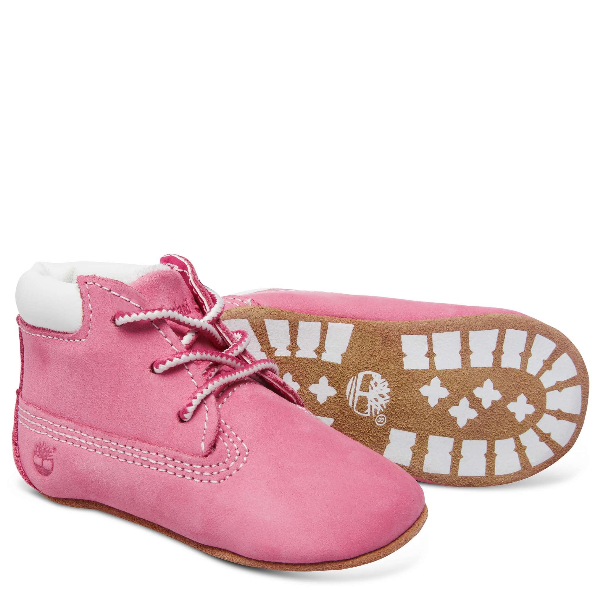 Timberland babyset med sko och mössa, rosa
