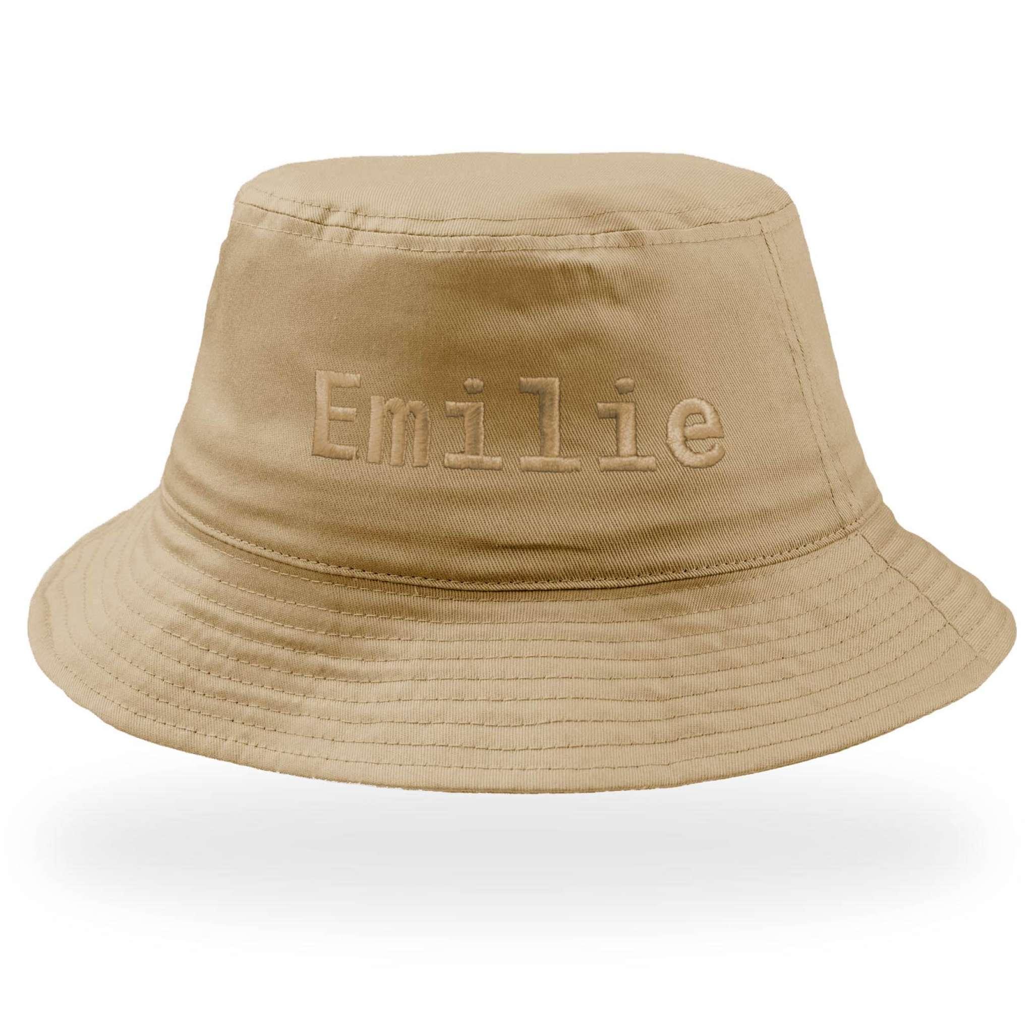 Bucket Cotton Hat med stor brodyr