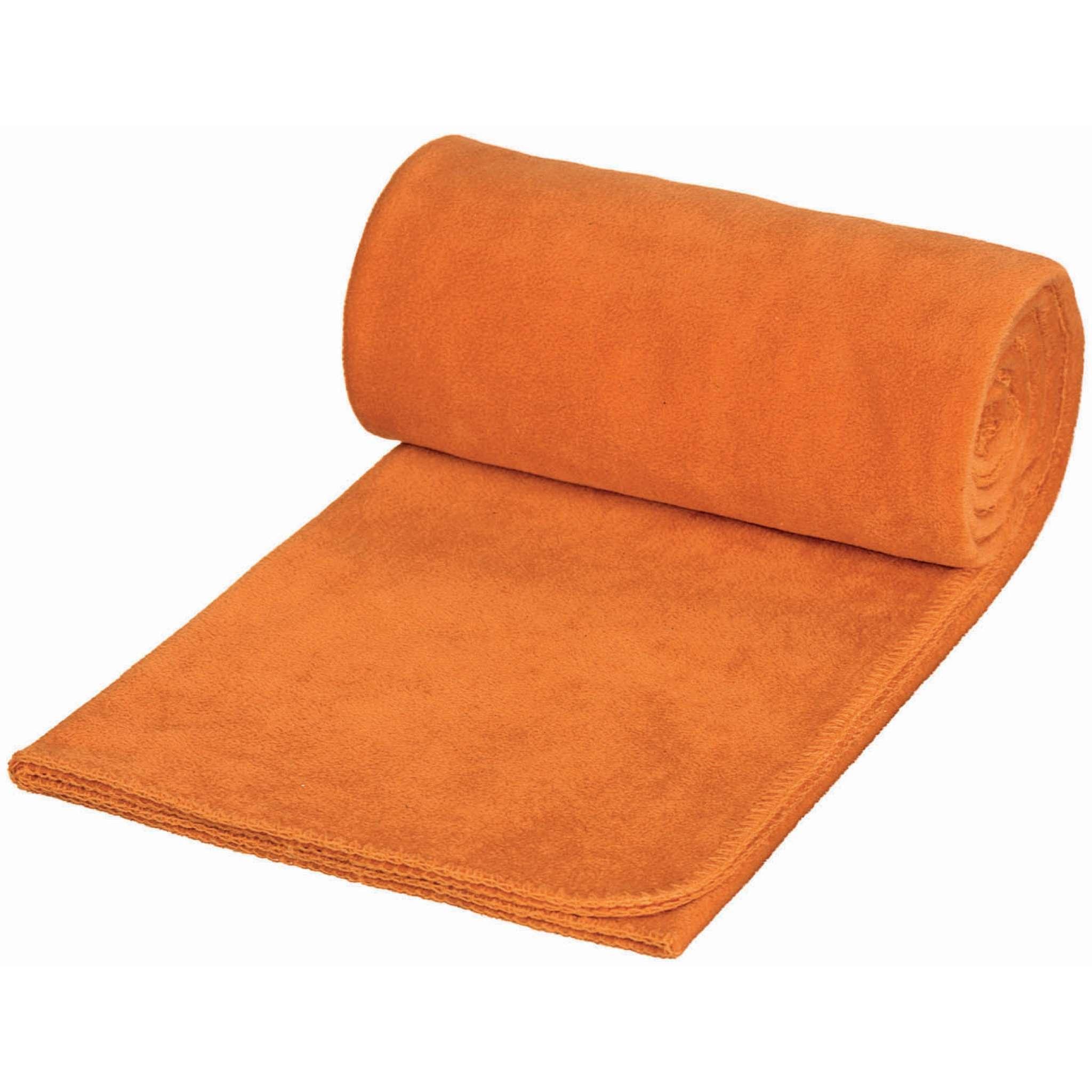 Fleecepledd Solid (150x180 cm)-Oransje (#FC883B)