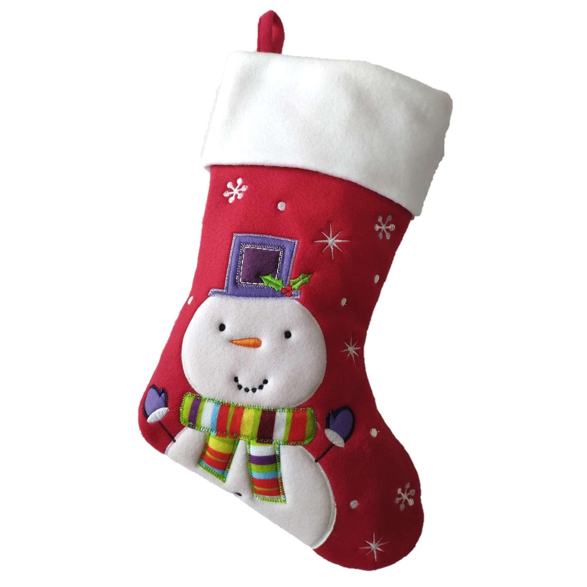 Julstrumpa Premium, Snögubbe lila hatt