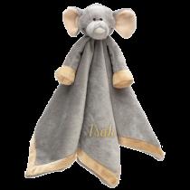 En mjuk och tröstande filt med ett mysig elefant för de allra minsta.