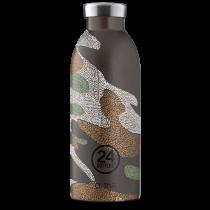 Håller drycken kall i 24 timmar eller varm i 12 timmar. Dubbelisolerad stainless steel dricksflaska.