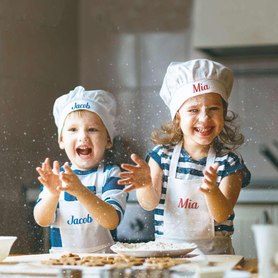 Kockförkläde barn, 4-6 år