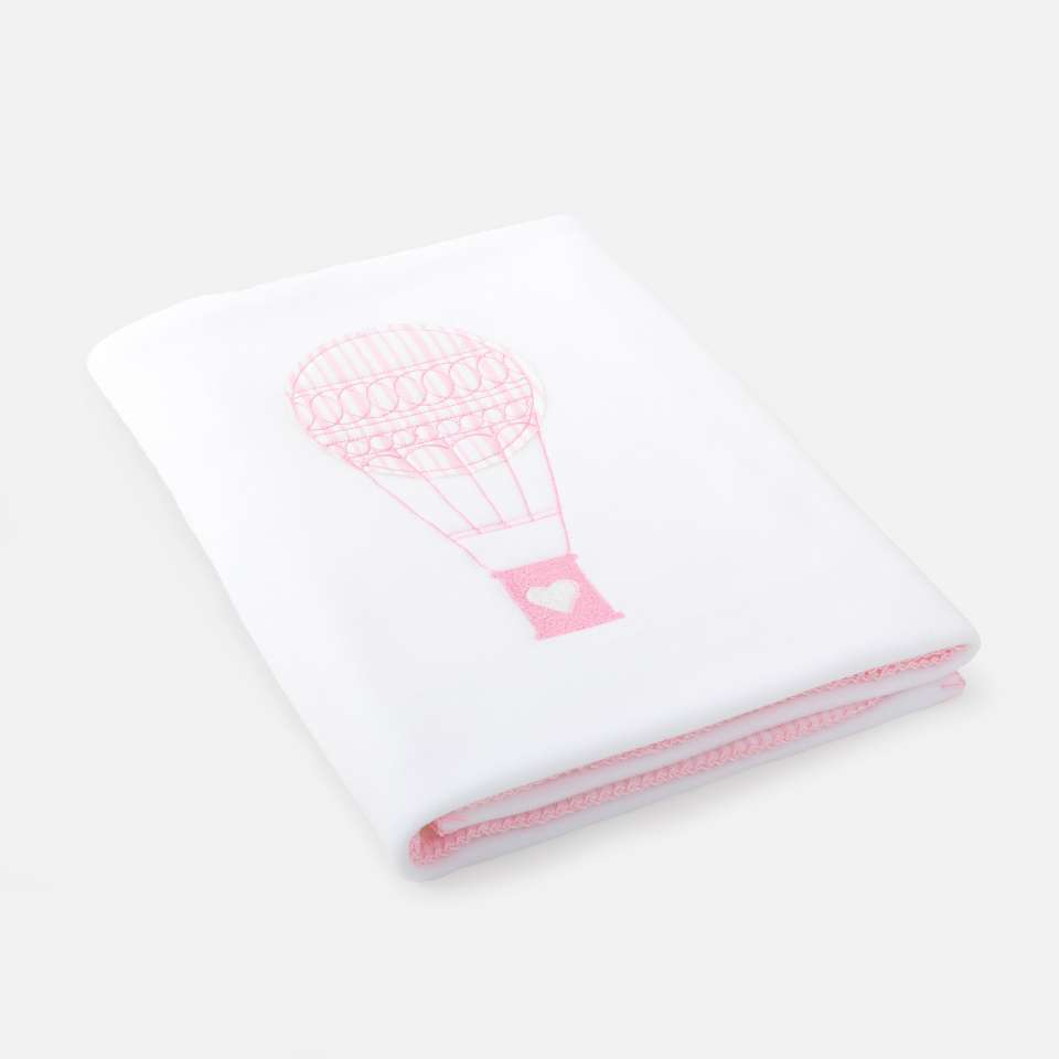 Ballon Pink Fleecepläd