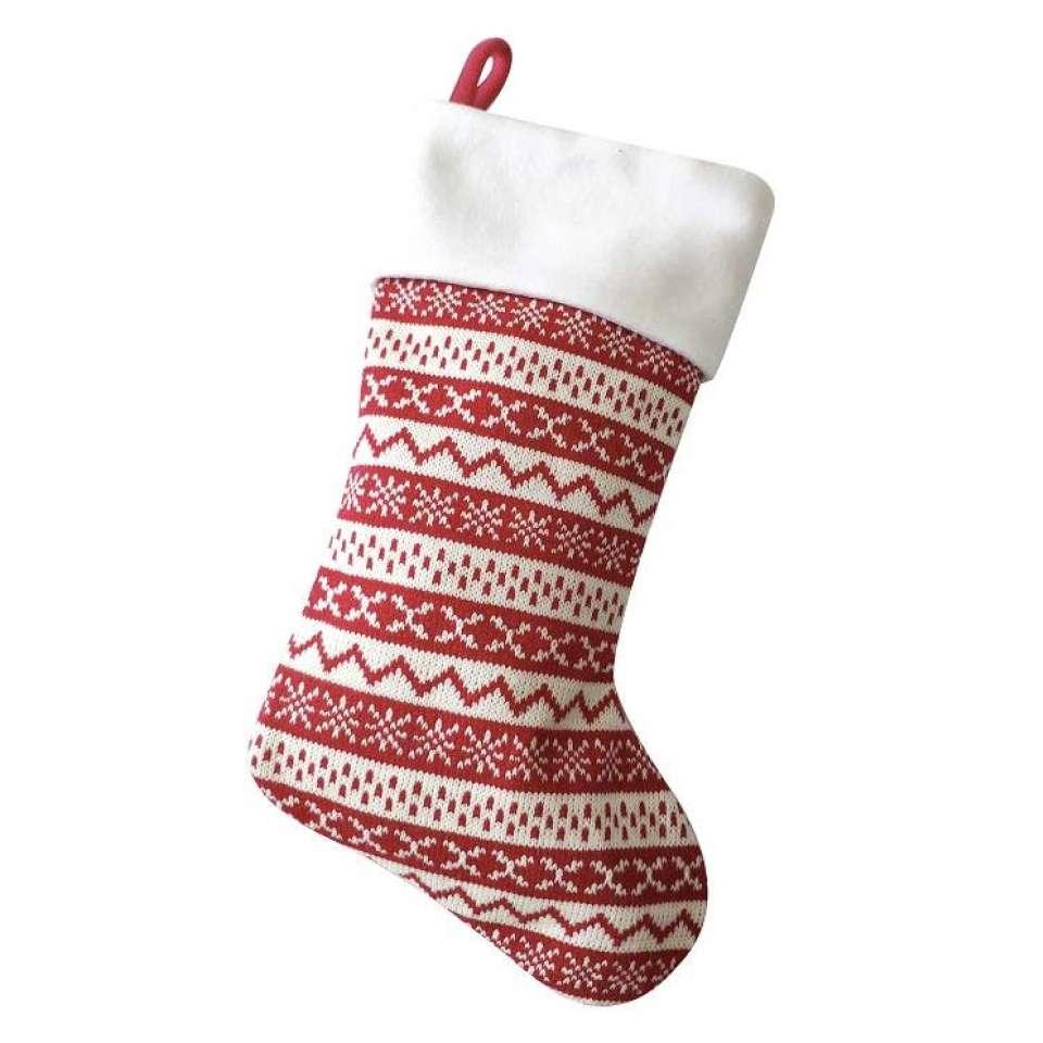Julstrumpa Premium, rött mönster