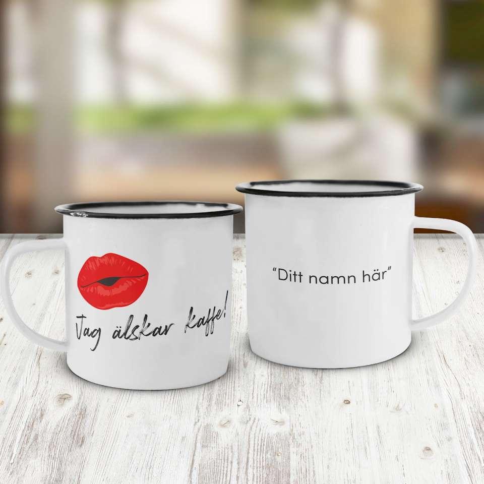 Emaljkopp, Älskar kaffe
