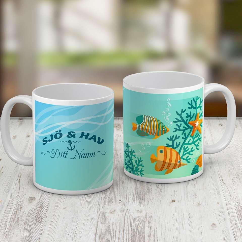 Kaffekopp, Sjö och hav