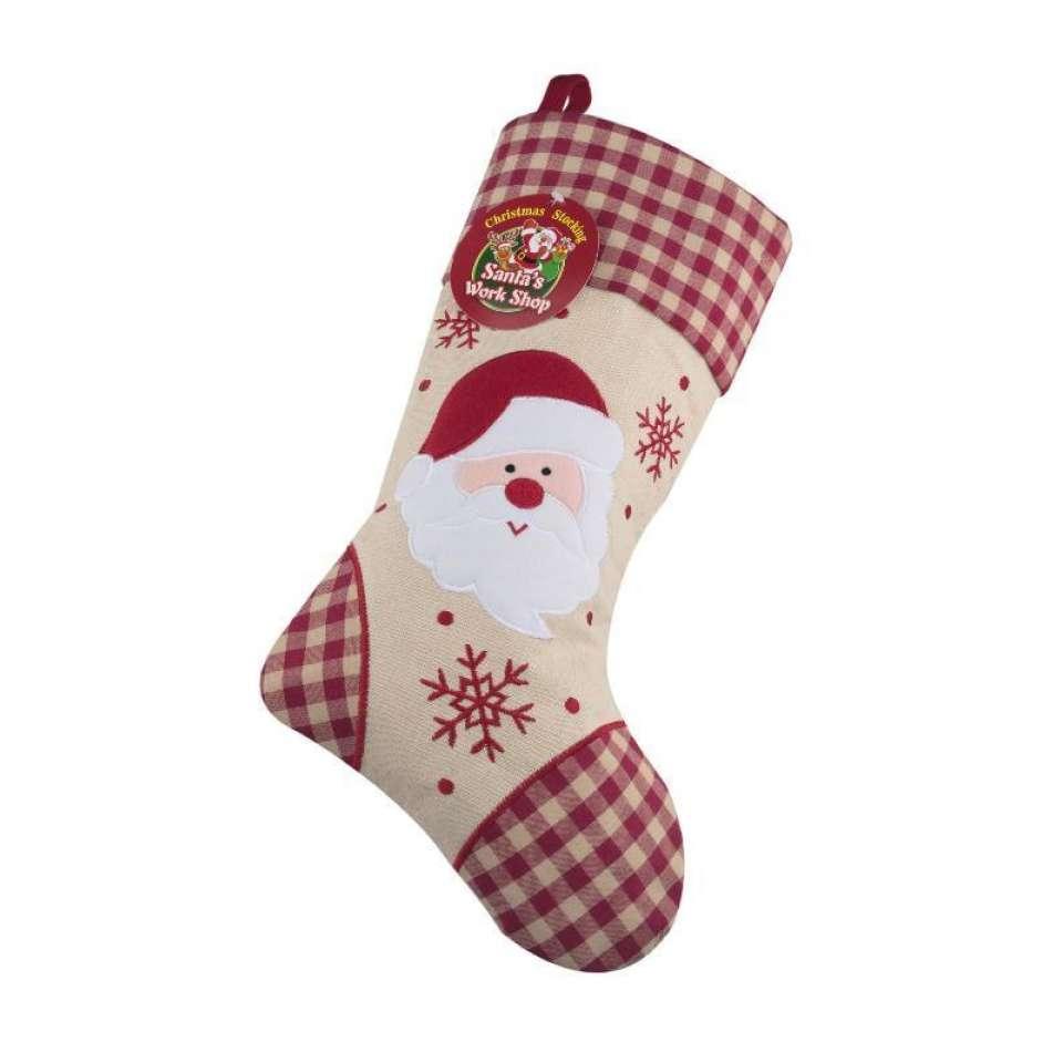 Julstrumpa Premium, Tomte rutigt mönster