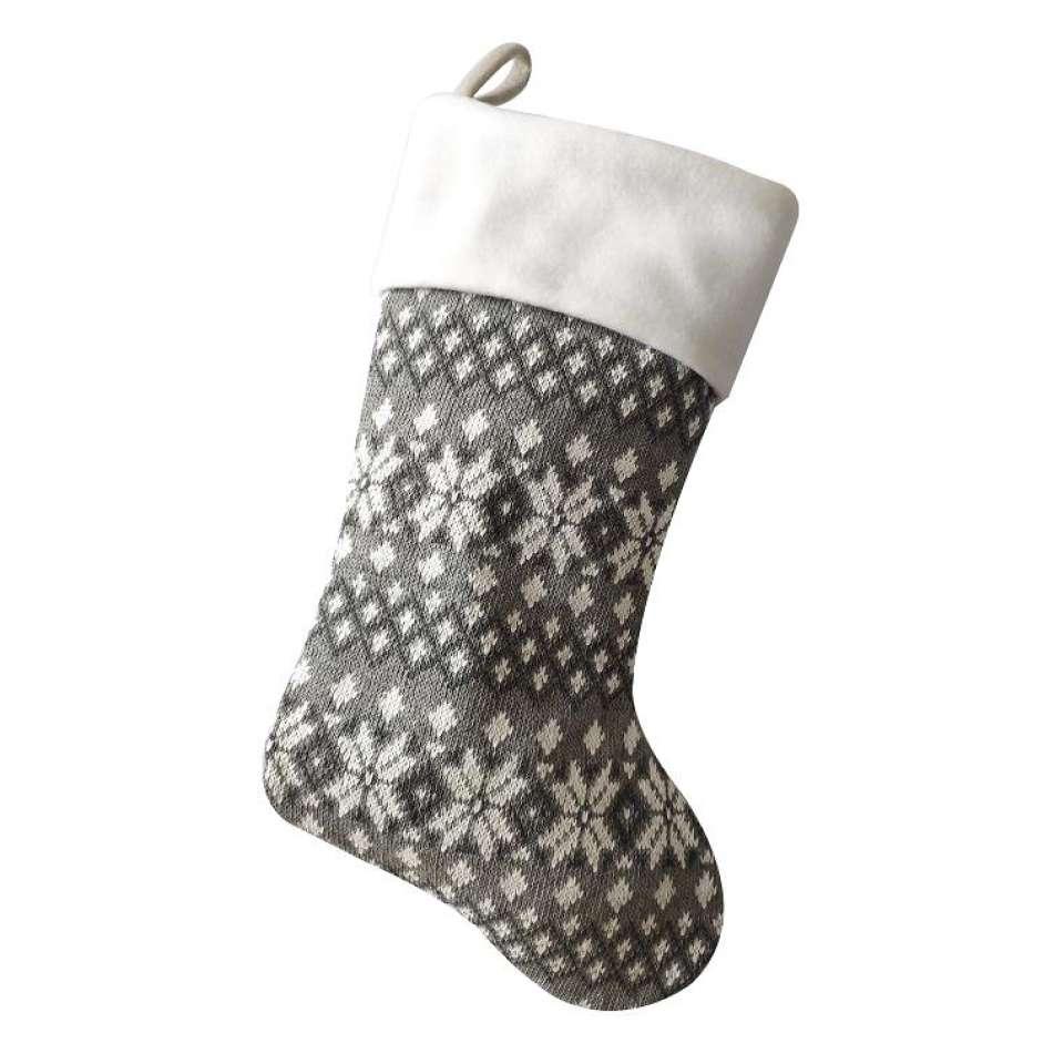 Julstrumpa Premium, Snögubbe rutigt mönster