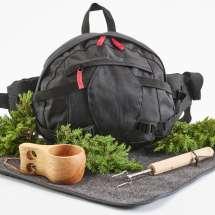 Ett fint paket med midjeväska och det du behöver för en härlig utflykt i skog och natur.