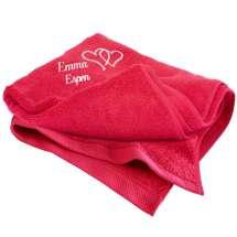 Brodera en underbart mjuk badhandduk (70x130 cm) till älsklingen, kärleksparet eller varför inte som en personlig gåva till föräldrarna!