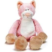 Otroligt söt rosa leksakskatt som spelar en glad melodi för ditt barn.