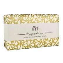 <p>Ge bort en vacker tvål med ett budskap för att ge någon lite extra uppmärksamhet, från The English Soap Company. Förpackad i ett vackert papper med vintage design och en trevlig hälsning.</p> <p>Denna citrondoftande tvålen är en perfekt gåva att gratulera någon med.</p>